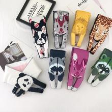 Маленькие размеры 10x90 см, пуховые хлопковые шарфы, дизайнерские объемные шарфы в форме животных, кошек, тигров, пушистый теплый шарф для женщин, шарф, Детские шарфы
