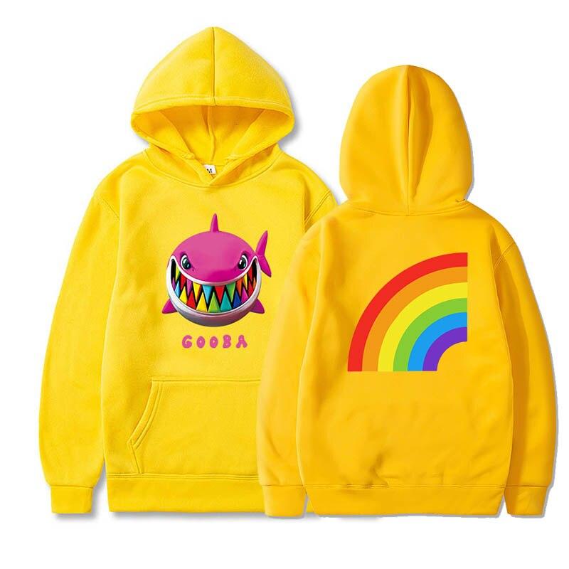 6ix9ine Hoodies gooba rainbow streetwear hiphop rapper Long Sleeve Velvet Warm Soft Pullovers Sweatshirts