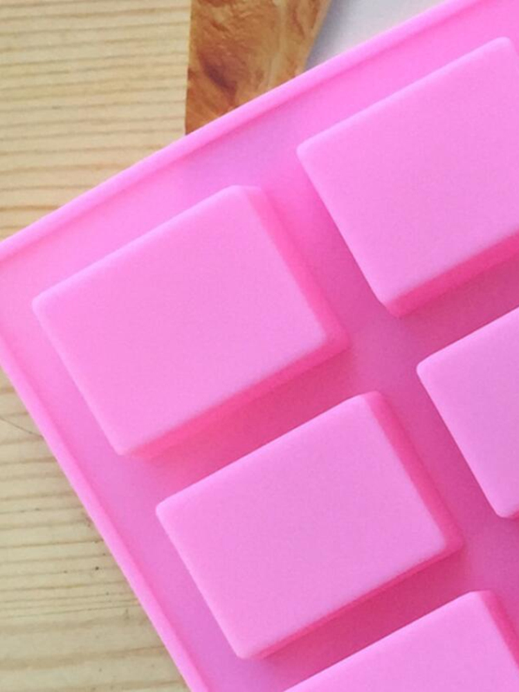 Candy-Mold Soapcraft-Supplies Square Handmade Silicone Pudding 24-Cavity HOT