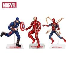 цена на Genuine Marvel The Avenger 3 Toys Super Hero Iron Man Captain America Spiderman Antman Hulk Anime Action Figure Dolls Kids Toys