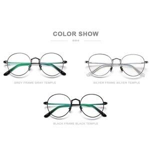 Image 5 - Fonex純チタン処方眼鏡男子超軽量レトロラウンド近視光眼鏡フレームの女性ヴィンテージ眼鏡884