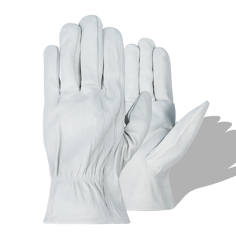 HENDUGLS 5pcs New Protective Work Glove Welding Men White Safety Wear Fashion Gloves Working European Size H93w|Safety Gloves| |  - title=