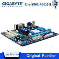 AM3 + GIGABYTE GA 880GM D2H placa base de escritorio 880G enchufe AM3 + DDR3 8G para Phenom II/Athlon II uATX placa base Original usada Placas base     -