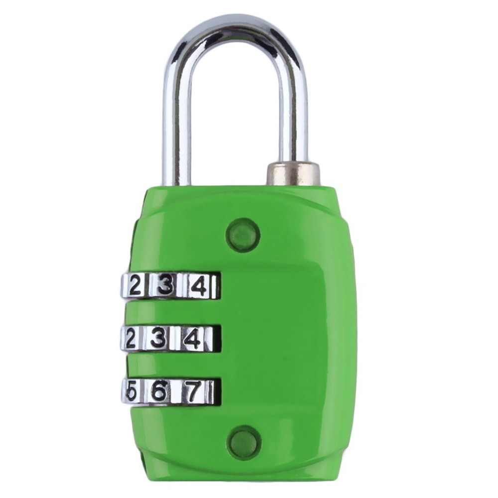 2019 Hot sale Zinc Alloy Security 3 Digit Dial Combination Code Number Lock For Luggage Zipper Backpack Handbag Suitcase