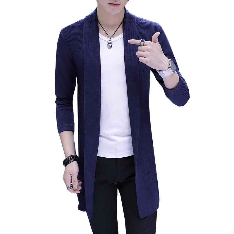 Fashion Men Winter Sweater Male Cardigan Long Sleeve Sweaters Casual Korean Style Hooded Cardigans