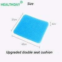 Summer Breathable Silicone Gel Honeycomb Flex Office Car Chair Cushion Sciatica Tailbone Pain Relief Health Care Cushion