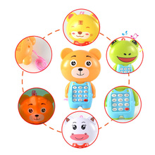 Vocal Toys Cartoon music glowing mobile phone Smart toy machine Baby Electronic Children Sounding Flashing Musical Learning kdis