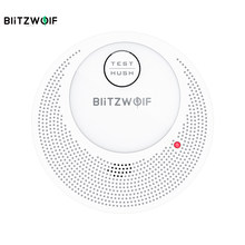 BlitzWolf-Detector de humo independiente para BW-OS1, Sensor de alarma antiincendios recargable, sistema de seguridad inteligente para el hogar, Sensor de alarma