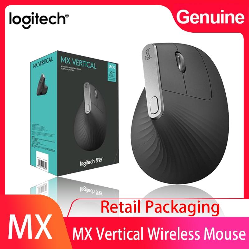 Logitech MX вертикальная Bluetooth беспроводная эргономичная мышь с Logitech FLOW 2,4 ггц USB Nano для Overwatch DOTA PUBG LOL мышь