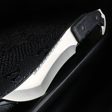 Xuan Feng cuchillo recto para exteriores, cuchillo de supervivencia portátil para acampar, herramienta EDC, cuchillo de caza y pesca de sable táctico