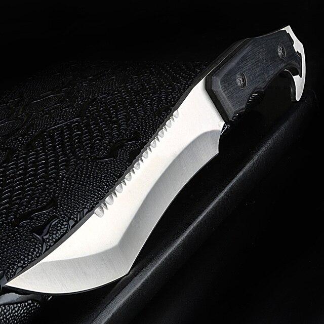 Xuan couteau droit portatif Feng, couteau de survie pour le camping, outil EDC, tactique, couteau de chasse et de pêche au sabre