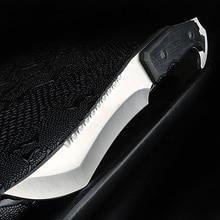 Xuan feng faca portátil e reta, para uso ao ar livre, acampamento, sobrevivência, edc, ferramenta de caça e pesca, faca de sabre