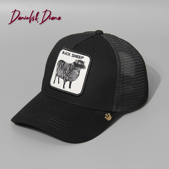Animal embroidery baseball cap high quality breathable size adjustable unisex streetwear outdoor shade men