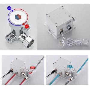 Image 5 - Hot En Koude Automatische Handen Touch Gratis Sensor Kraan Badkamer Wastafel Tap Badkamer Kraan Water Mixer Kraan FYG334