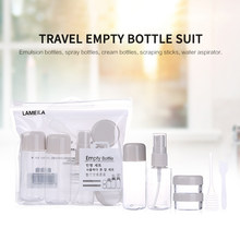 Ensemble de bouteilles portables rechargeables, pompe à parfum en aérosol, conteneurs cosmétiques vides, pot de pulvérisation, bouteille atomiseur pour voyage, 8 pièces/ensemble