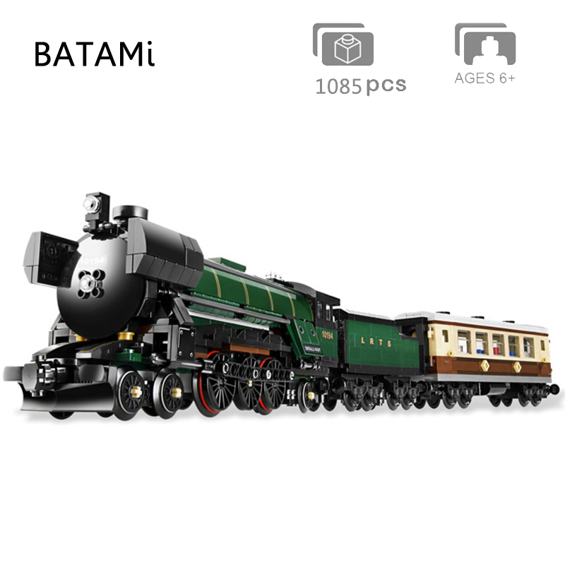 Model Building Block Bricks Toys Compatible  10228 71016 71006 60052 60098 60051 City Train Rail Train Engineering Vehicle