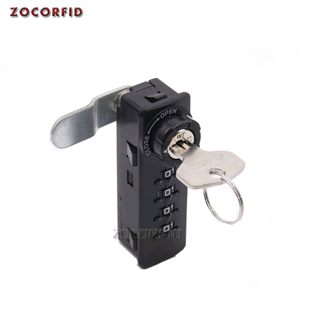 4 digits Combination Drawer password Lock 4 Dial Without Maser Key , Drawer Cabinet Lock image
