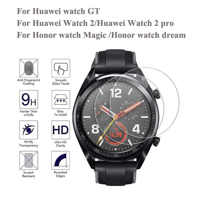 2pcs 9 שעתי מזג זכוכית עבור Huawei שעון GT/שעון 2 פרו כבוד שעון קסם/חלום HD נגד שריטות אנטי טביעות אצבעות מזג סרט