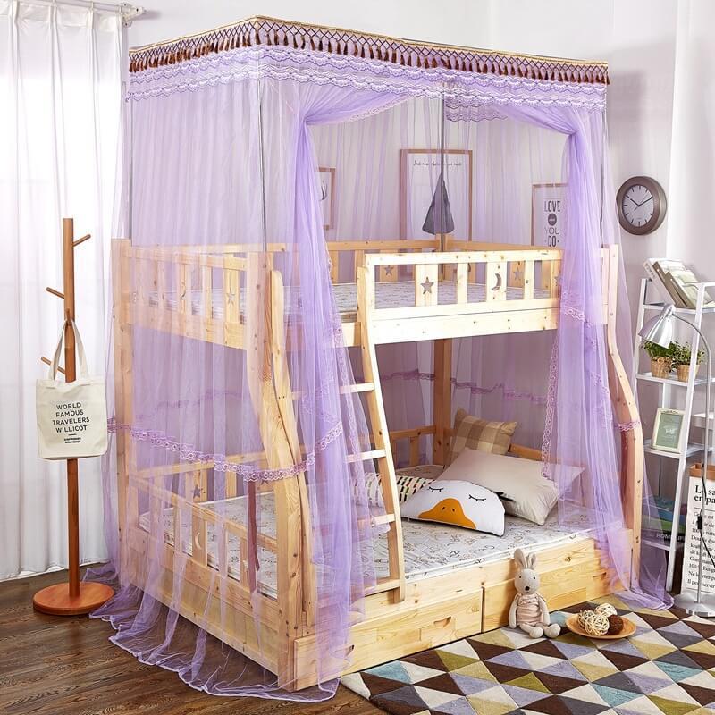 Leradore Luxury Mosquito Nets For Children Double Bunk Lace Bunk