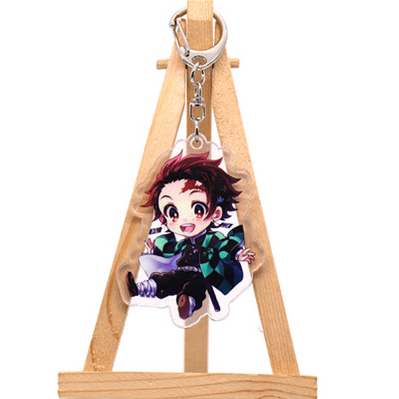 Anime Dämon Slayer Kimetsu Keine Yaiba Kamado Tanjirou Cosplay Prop Zubehör Keychain Kamado Nezuko Acryl Schlüssel Kette Schlüsselring