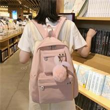 Waterproof Nylon Casual School Bag Fashion Women Backpack Bag Large Capacity Travel Backpack Girls Bagpack Laptop Backpack