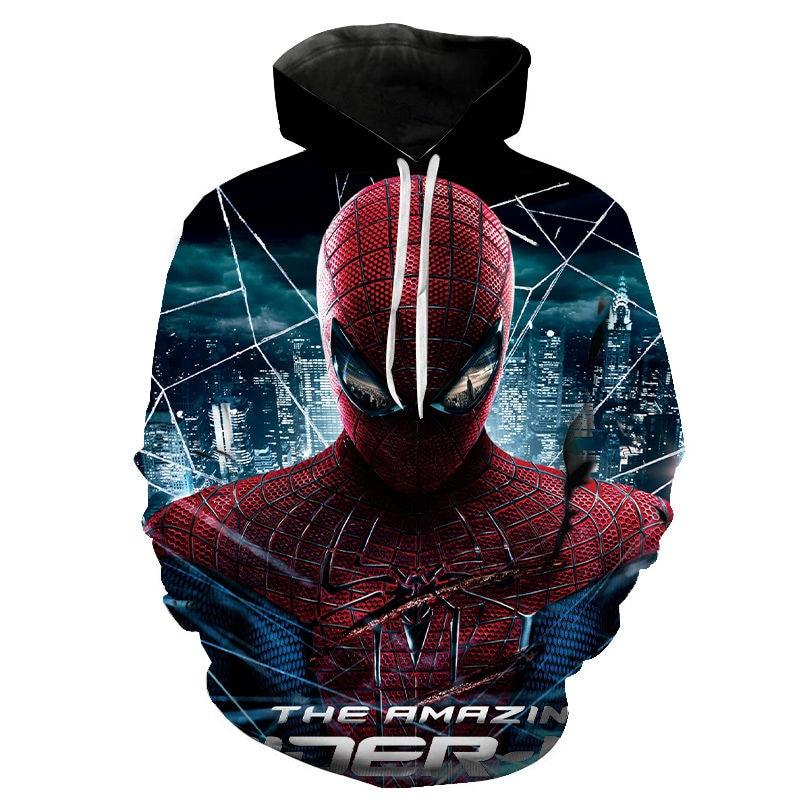 3D Print Spider-Man Hoodies Men Women Children Fashion Marvel Superhero Sweatshirt 3D Pullover Streetwear Sudaderas Tops Coat