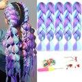 AIYEE Джамбо плетеные волосы 100 г 24 дюйма синтетические плетеные волосы оптовая продажа многоцветные смешанные волосы Омбре для наращивания
