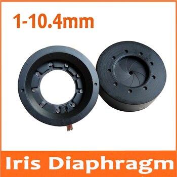 20 piezas 1-10,4 MM Zoom óptico Iris abertura de diafragma condensador 9 cuchillas para cámara Digital microscopio regulador de luz de adaptador