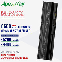 ApexWay 11.1V Battery For hp pavilion g6 battery CQ72 CQ57 CQ62 CQ43-300 For HP Pavilion G4 G6 G7 G32 593553-001 G56 G62 MU06(China)