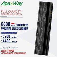 Apexway 11.1V Batterij Voor Hp Pavilion G6 Batterij CQ72 CQ57 CQ62 CQ43 300 Voor Hp Pavilion G4 G6 G7 G32 593553 001 g56 G62 MU06-in Laptop Batterijen van Computer & Kantoor op