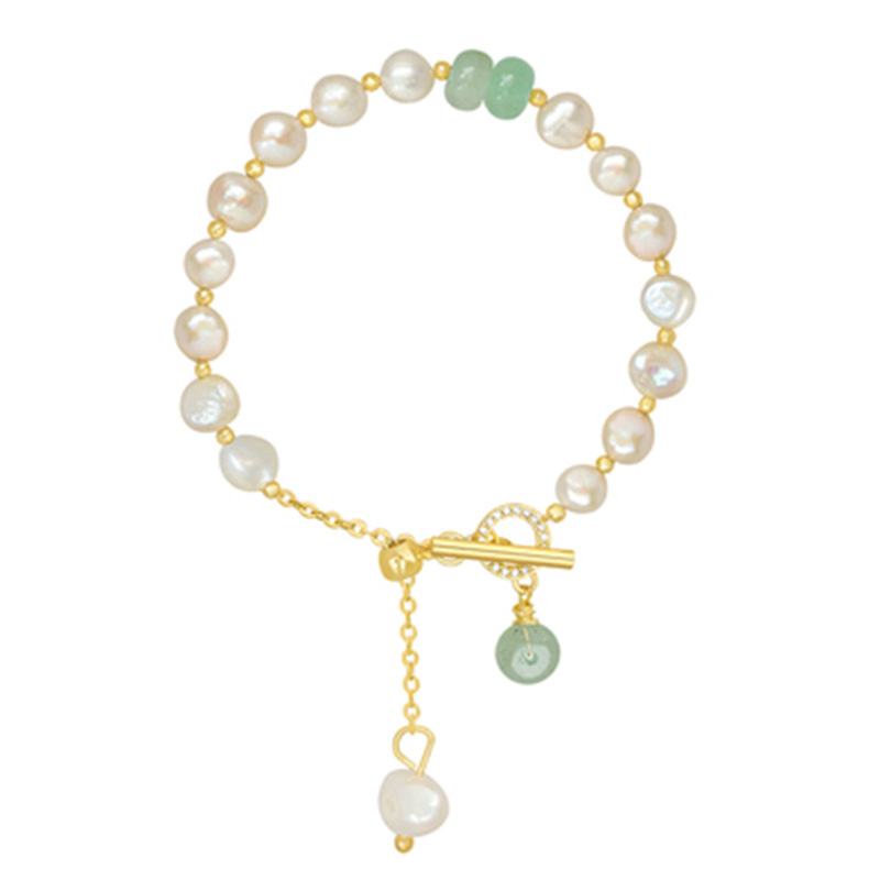 Simple Temperament Jewelry Suitable For Gift-giving Baroque Pearl Safety Clasp Bracelet Women's Bracelet Jewelry Luxury Jewelry