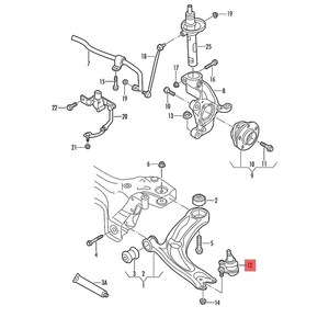 Image 5 - 1K0407366 1K0407365C 1 Paar Saum Arm Suspension untere Kugelgelenk Auto Link Für VW Golf MK5 MK6 Jetta Beetle EOS sitz Altea Octavia