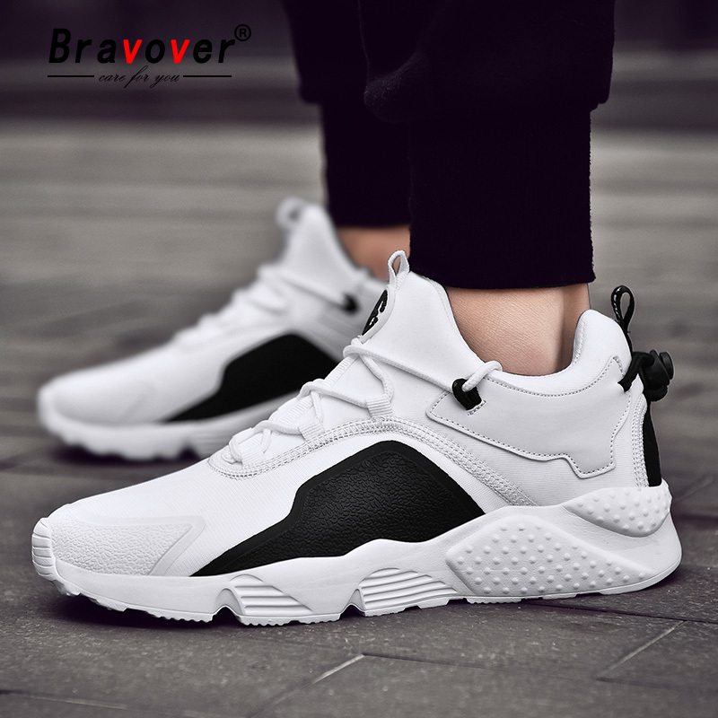 Men Lace-Up Lightweight Running Shoes High Quality Men Sport Shoes Wear-resistant Shock Absorbing Outdoor Men Sneakers