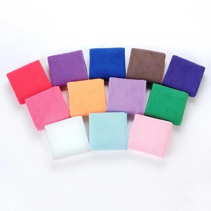 5pcs//Lot Square Microfiber Face Hand Car Cloth Towel House Cleaning 25*25cm