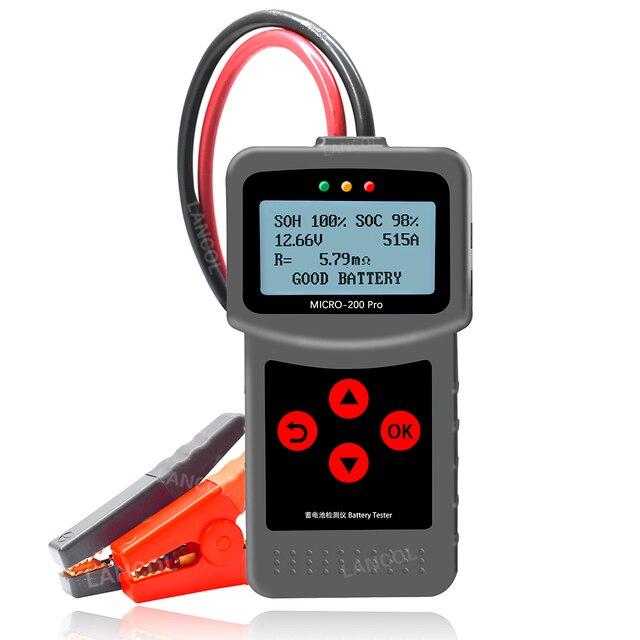 Lancol Micro200Pro 12 V Batteria Auto Tester 40 a 2000CCA 12 Volt Utensili a Batteria Per La Macchina Rapido A Gomito di Ricarica diagnostica