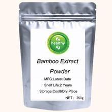 Extrato de bambu puro em pó para o crescimento do cabelo extrato de bambu solaray 70% sílica orgânica para a pele cabelo & unhas saúde