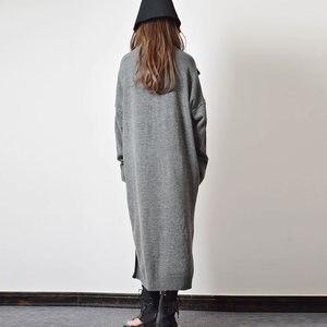 Image 2 - XITAO Taste Dekoration Gestrickte Casual Kleid Frauen 2019 Winter Grau Koreanische Mode Neue Stil Rollkragen Kragen Gerade GCC2040