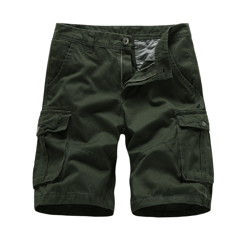 Men's Twill Cargo Shorts Loose Outdoor Camouflage Wear Lightweight Mens Casual Slim Fit Cotton Solid Multi-Pocket Female Short
