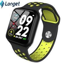 Longet F8 لمس كاملة شاشة سوار ذكي مراقب معدل ضربات القلب ضغط الدم جهاز تعقب للياقة البدنية الذكية الفرقة الرجال دعم IOS الروبوت