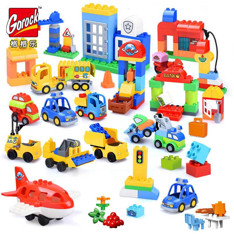 Menina princesa tamanho grande blocos conjuntos compatíveis legoinglys duploed casa da família tijolos blocos de construção brinquedos para crianças