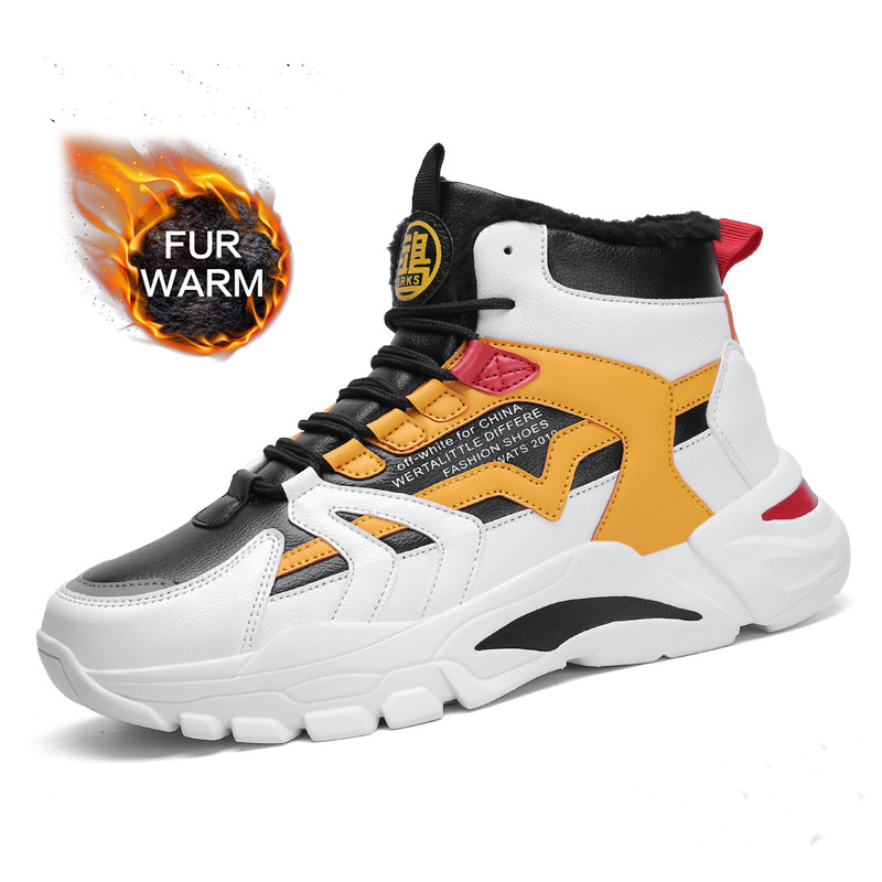 Winter Snow Boots Men Trend Casual High Top Shoes Male Outdoor Chunky Sneakers Men Classic Sport Basketball Shoes
