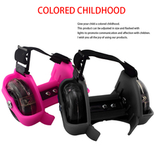Roller-Skating-Shoes Heel-Roller Flash-Wheels Colorful Kids Whirlwind Pulley for Gift