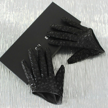DEAT осень и зима новые продукты модные ультра короткие овчины клетчатые сексуальные кожаные перчатки для женщин PB183