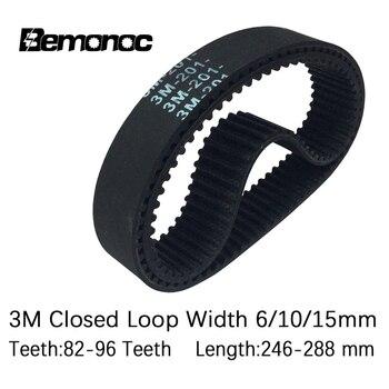 Arc HTD 3M Timing Belt 246/249/252/255/258/261/270/276/282/285/288mm Width 6/10/15mm Teeth 82-96 HTD3M Synchronous Drive Belt цена 2017