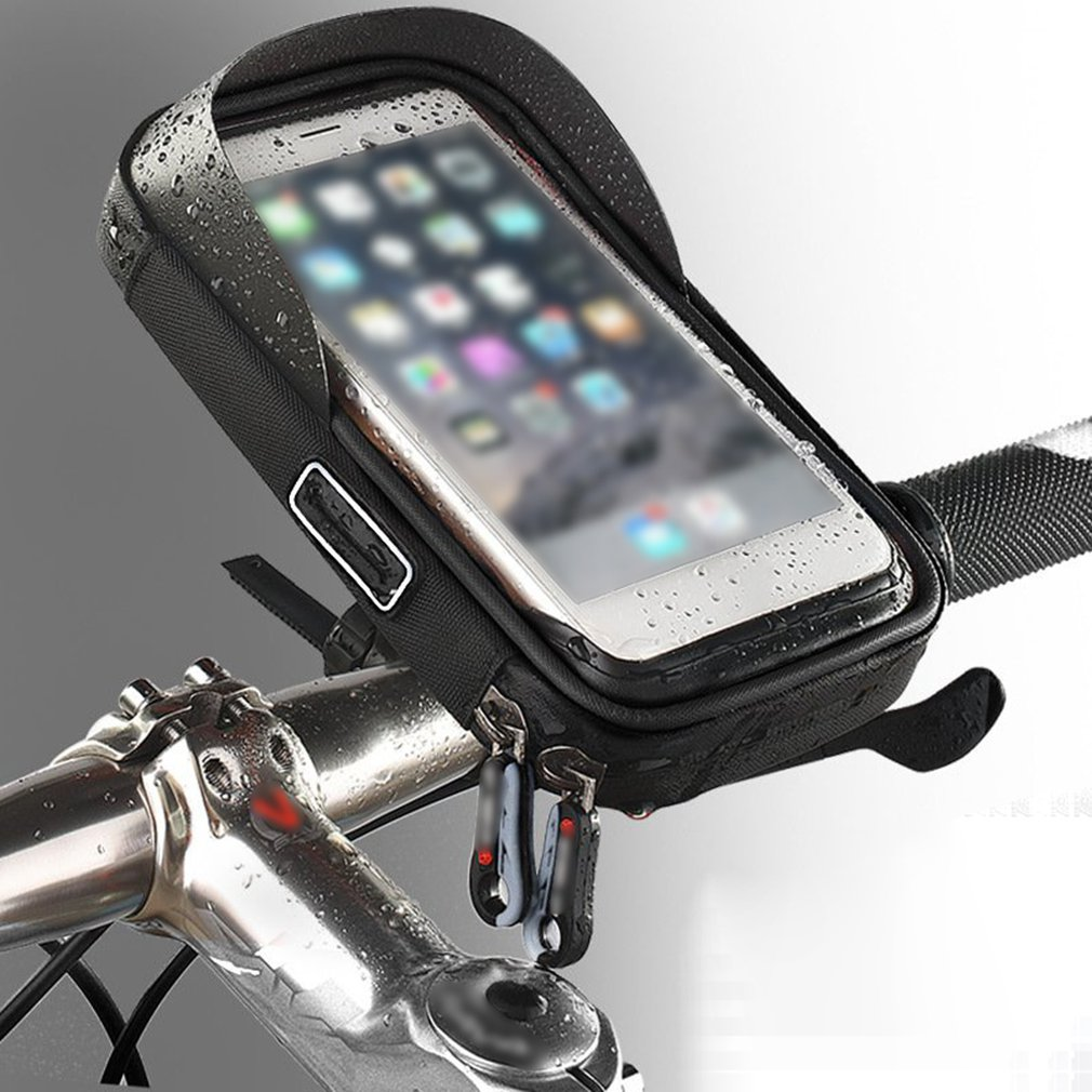 6.0 Inch Waterproof Bike Bicycle Mobile Phone Holder Stand Motorcycle Handlebar Mount Bag For Iphone X Samsung LG Huawei