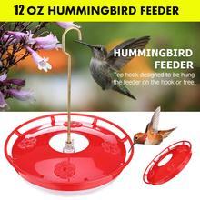 12 oz. Hanging Hummingbird Feeder with 4 Flower Ports Yard Garden Window Bird