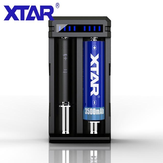 XTAR 18650 شاحن بطارية SC2 ماكس 3A QC3.0 شحن سريع ل بطارية ليثيوم أيون قابلة للشحن 18650 26650 20700 21700 شاحن الذكية