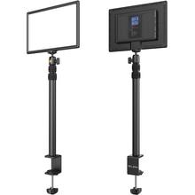 VIJIM K4 Flat Pannel Light US EU Plug LED Video Light with Desk Light Stand Dimmable Panel Lighting Photo Studio Live