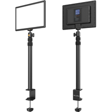 VIJIM K4 Flat Pannel Light US EU Plug LED Video Light with Desk Light Stand Dimmable Panel Lighting Photo Studio Live