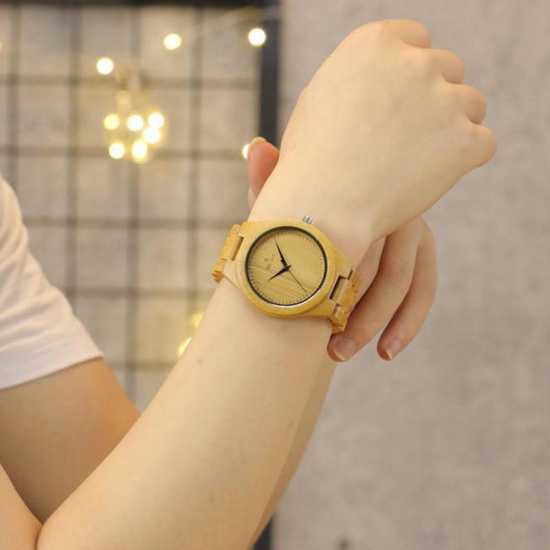 Simple And Pure And Fresh Green Bamboo Watch Amazon Wish Ebay Hot Style Factory Spot Bamboo Watches